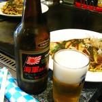 お好み焼・たこ焼 多幸膳 - 海軍さんの麦酒700円