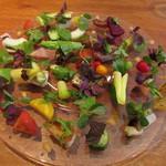 ラ・ターチ - 有機野菜の料理~宮城のカツオ・北海道の帆立貝・明石の小タコ・徳島のトコブシ・オクラの花