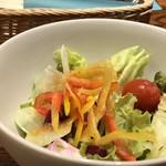 洋食 麻布満天星 - ◆サラダ・・お野菜タップリ。