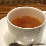洋食 麻布満天星 - ◆スープ・・薄めのミネストローネ風。