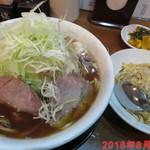 中村商店 - 特製豚そば あっさり(麺1.5倍+野菜大盛り) \800