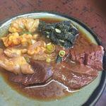 東京苑 - ホルモン盛り合わせ(一部食べてしまいました。)