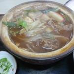 芳乃家 - 料理写真:'18/08/14 親子味噌煮込みうどん(税込840円)