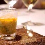 カンテサンス - 北海道噴火湾の毛蟹と夏野菜の冷製スープ