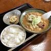 手作り餃子の店 とみや - 料理写真:もつ煮定食(税込750円)