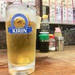 山城屋酒場 - 生ビール 500円