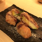 kiwa - 丸ズッキーニの肉巻き~チーズパン粉揚げ(税抜き730円)