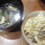 ビュー&ダイニング コトシエール - 番外、松茸ご飯とお吸い物