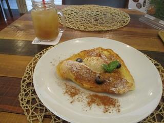 エッグカフェ - フレンチトースト・ドリンクセット(╹◡╹)♡
