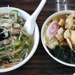 90929208 - 唐揚げ&サンマー麺