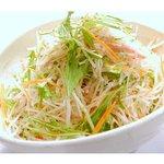 炭火焼肉ひばち - 大根と水菜のサラダ