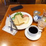 トゥ・ザ・ハーブズ - ハムエッグ&トーストモーニングセット480円
