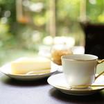 蔦珈琲店 - スフレチーズケーキ (お飲み物付き) (¥1,000)