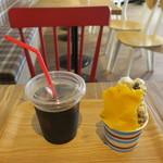 ジェラートファクトリー ミラ - 料理写真:ジェラート ダブル:黒豆きなこ&マンゴー&アイスコーヒー
