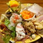 トラットリアモッチ - 前菜全部盛り合わせ