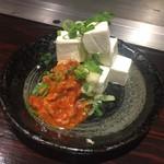 広島焼 HIDE坊 - クリームチーズのチャンジャ和え 520円
