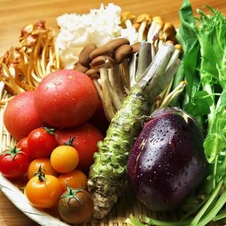 厳選された食材や旬の季節野菜