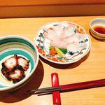 鮨 歴々 - 料理写真:桜煮とアラ