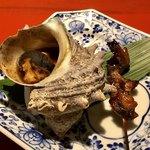 寿司 さ々木 - サザエの壺焼き、ドジョウ蒲焼き