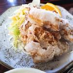 鳥料理 杉本 - 鶏定食の竜田揚げ