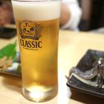 開陽亭 - サッポロクラシック生(二杯目)