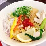 麺や たけだ - 汁ナシしょうゆ(しめのごはん付)♡¥850