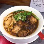 麺や たけだ - 汁アリ限定炙りチャーシュー麺♡¥900
