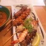 海活楽宴 きゅんとや - 串焼き5本盛り