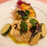 ピッツェリア・サバティーニ - 長崎産鮮魚のフリット米粉とサフランのソース