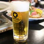 日本料理 黒潮 - サッポロ黒ラベル生