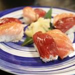日本料理 黒潮 - お寿司(鮪と大トロ)