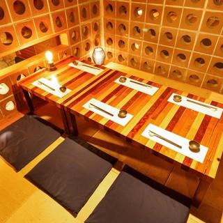 ゆったりと寛げる個室や大宴会スペースまで様々なお席をご用意♪