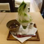 茶々屋南山園 - 料理写真:西尾抹茶氷菓南山(1080円)