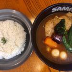 SAMA - 料理写真:チキンスープにしました。チェーン店は安定して美味い
