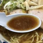 らーめんや天金 - 正油ラーメンスープ