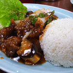 豊園 - 料理写真:酢豚ランチ(2011/8)