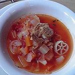 9096665 - ランチのスープ トマト&チーズ風味の具沢山野菜