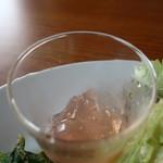 カフェヒュッテ - 桃のゼリー