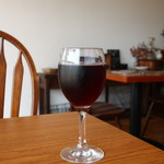 カフェヒュッテ - グラスワイン赤