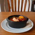 カフェヒュッテ - ごろごろ野菜と豚バラ肉の赤ワイントマト煮込み