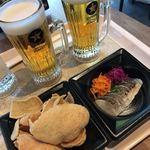 サッポロ生ビール黒ラベル THE PERFECT BEER GARDEN 2018 TOKYO - 大人のえびせん&炙りニシンと人参 紫キャベツのラペ&パーフェクト黒ラベル