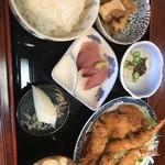 のざき - ミックスフライ定食850円