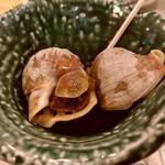 天ぷら料理 さくら - お通し・釧路の煮ツブ