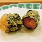 天ぷら料理 さくら - 礼文産バフンウニ 海苔巻き