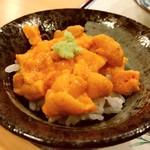天ぷら料理 さくら - 礼文産バフンウニ ミニ丼
