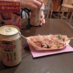 たこ焼道楽 わなか - 缶ビール300円