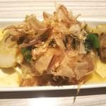 タイムズ スパ・レスタ - ラフテー 肉は若干薄くて硬い ほうれん草・豆腐・鰹節入り 味は良し