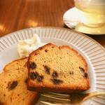 90964073 - 有機レーズンのパウンドケーキと、ハーブコーディアルのレモングラス