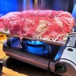 90964505 - 松阪牛もも肉&ブリスケの肉炊き鍋