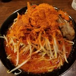 90965472 - 悶絶地獄ラーメン(半麺/野菜マシ) 800円